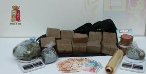 Droga e materiale sequestrato