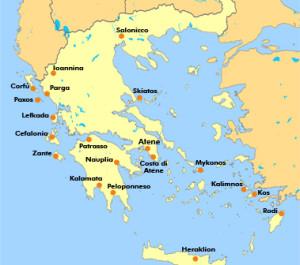 GRECIA cartina geografica