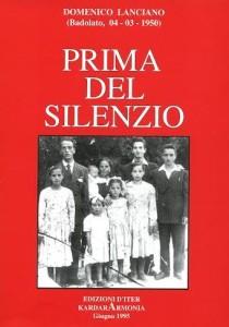 PRIMA DEL SILENZIO copertina 1995