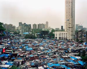 baraccopoli e grattacieli INDIA