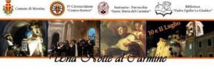 """""""Una notte al Carmine"""": arte, poesia e musica sul filo della memoria."""