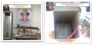 Caulonia Marina (Rc): rinvenuti 1 kg di esplosivo artigianale, armi e munizioni.