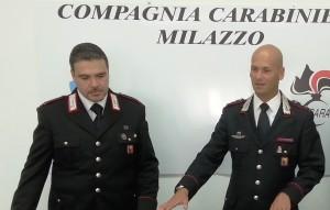 Carabinieri milazzo Mar. La Rosa e Cap. Ruotolo