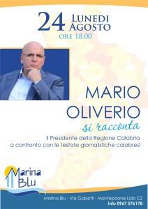Montepaone Lido (Cz). Mario Oliverio si racconta, domani, 24 agosto, alle ore 18.00