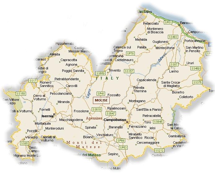 cartina del molise