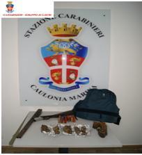 Caulonia (Rc). Rinvenute munizioni, 15 ghiri congelati e un fucile arrugginito: denunciato dai Carabinieri un 43enne e 48enne del luogo.
