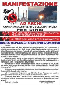 San Filippo del Mela (Me). Manifestazione contro l'inceneritore