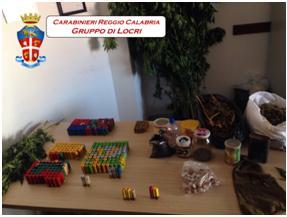 Sant'Ilario dello Jonio (Rc). Deteneva droga e 400 cartucce da caccia. 22enne di Ciminà denunciato dai Carabinieri.
