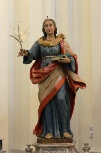 Messina. Zaffaria, dopo il restauro, la statua lignea di Santa Sofia sarà esposta ai fedeli.