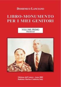 LIBRO-MONUMENTO di Domenico Lanciano VOLUME 1 copertina (1)