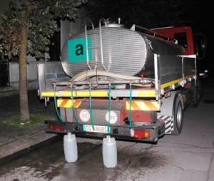 Messina. Localizzazioni delle postazioni fisse per l'approvvigionamento idrico alla popolazione.