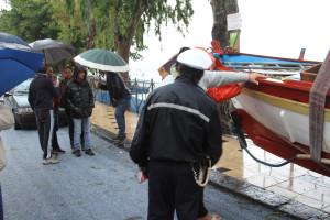 Barche in strada Vaccarella
