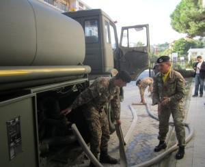 L'Esercito su richiesta della Prefettura di Messina, di nuovo in azione in città per la nuova emergenza idrica