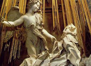 Gianlorenzo Bernino ESTASI SANTA TERESA - insieme con angelo