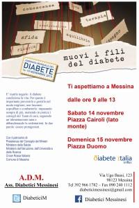 ADM Diabetici Messinesi: prevenzione e una migliore gestione, 14 e domenica 15 novembre