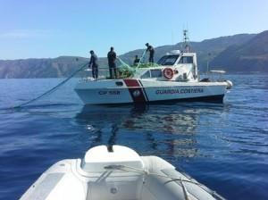 Reggio Calabria. Guardia Costiera: Attivita' di contrasto all'uso delle reti da posta derivanti illegali.