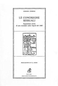 copertina libro LE CONGREGHE SESSUALI - Antonio Arduino - ECIG Genova 1984