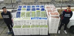 1600 kg di prodotti ittici sequestrati