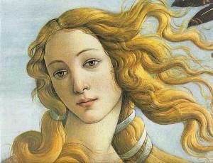 il volto di Afrodite dea dell'Amore