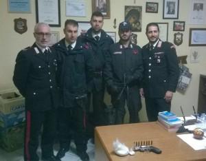 Santa Caterina dello Jonio (Cz): trovati in un lido pistola e cocaina, due arresti dei carabinieri.