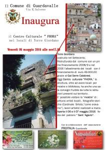 """Guardavalle (Cz). Venerdì 6 maggio ore 17.00 inaugurazione di Torre Giordano (ristrutturata) sede del Centro Culturale """"Fhora"""""""