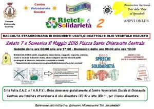 Chiaravalle Centrale (Cz). Riciclo e solidarietà,raccolta straordinaria di indumenti usati, giocattoli e olio vegetale esausto.