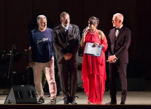 Sul palco Accorinti, Maricchiolo, Paratore e Pirrone