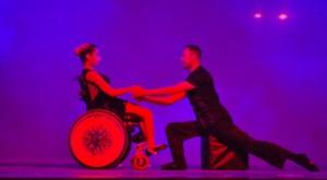 Salvatore De Mariano con ragazza disabile
