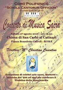 Concerto Corale di musica sacra a Roma e Messa cantata in Vaticano.