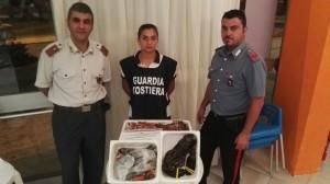 personale con prodotti ittici sequestrati per mancanza di tracciabilità