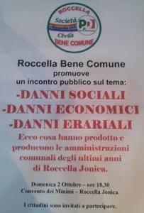 """Roccella Jonica (Rc). Incontro pubblico di """"Roccella Bene Comune"""" del 2 ottobre 2016 al Convento dei Minimi."""