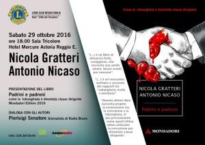 """Si presenta a Roccella (Rc) il libro """"Padrini e padroni"""" di Gratteri e Nicaso"""