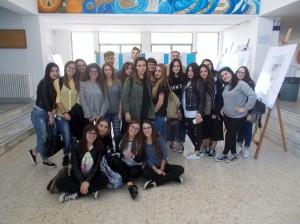 Foto della Classe col tutor prof Franco De Nittis