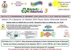 """Chiaravalle Centrale (Cz).  """"Riciclo e Solidarietà"""" : zucchero e olio per il banco alimentare del CVS."""
