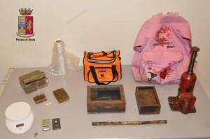 droga e attrezzi sequestrati 25 ottobre 2016