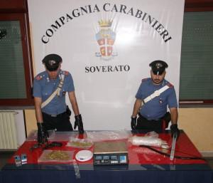Gagliato (Cz). Due fratelli arrestatati dai Carabinieri per detenzione ai fini di spaccio.