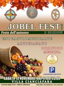 Zafferia (Me). Sabato 12 novembre al via la X edizione della JobelFest all'interno di Villa Cianciafara, dalle 17.00 alle 23.00.