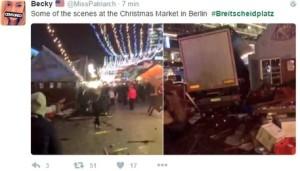 Ansa: Camion contro mercato di Natale a Berlino, un morto e diversi feriti. Polizia: 'E' attentato'
