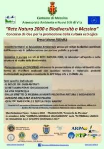 """Messina. Domani a Palazzo Zanca conferenza stampa di presentazione del concorso """"Rete natura 2000 e biodiversita' a Messina"""""""