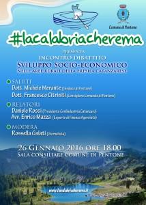 Catanzaro. A Pentone si discute di sviluppo socio-economico nelle aree rurali della Presila catanzarese. L'evento organizzato da #lacalabriacherema