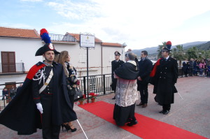 Cerimonia di intitolazione della Piazza di Caronia (Me) al Maresciallo Ordinario Salvatore Giuffrida