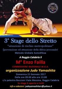"""Il  22 gennaio a Reggio Calabria il """"3° stage dello Stretto"""": a lezione di difesa personale dal maestro Enzo Failla."""