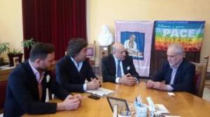Messina. L'Assessore Pino ha ricevuto oggi a Palazzo Zanca l'imprenditore Franco Proto vicino all'acquisto del Messina.