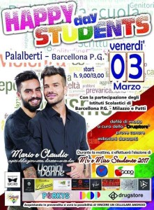 Barcellona P. G. (Me). Venerdì 3 marzo l'Happy Students Day