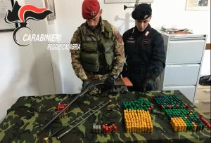 Ciminà (Rc).  Ricettazione e detenzione abusiva di armi, arrestato dai Carabinieri un 42enne del posto e sequestrato un fucile e diverse munizioni.
