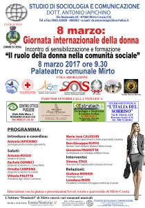 CROSIA manifesto  8 marzo 2017 Giornata internazione della donna