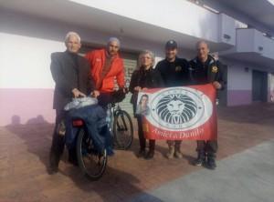 Seconda tappa per il giovane trentaduenne che da Melito di Porto Salvo (Rc) oggi è arrivato a Badolato (Cz).