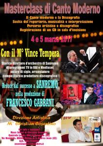 S. Andrea Marina (Cz). Masterclass di canto moderno con il maestro Vince Tempera