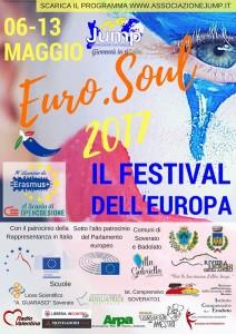 """A Badolato (Cz) la festa dell'Europa """"Euro.Soul 2017″ dell'Associazione Culturale Jump di Soverato (Cz) il 9 maggio."""
