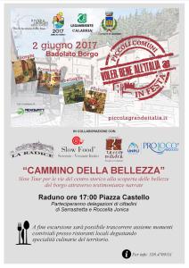 Badolato (Cz). Torna la festa dei piccoli Comuni per un'Italia dal futuro green.
